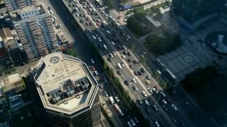 birds eye view of city of Beijing
